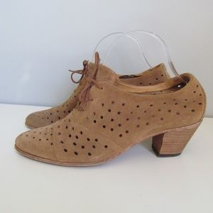 John Fluevog Audrey Perforated Brown Shoe